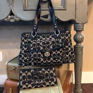 Coach Handbag and matching Wallet